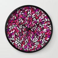 Pink Almond Wall Clock