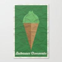 Bulbasaur Cheesecake Canvas Print