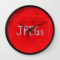 look at my JPEGs Wall Clock