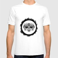 Half Evil Wild Monkey Mens Fitted Tee White SMALL