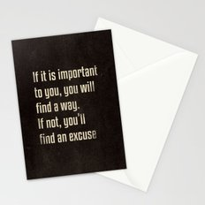 If it is important to you, you will find a way. - Motivational print Stationery Cards