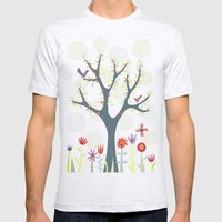 The Garden Mens Fitted Tee Ash Grey SMALL