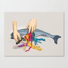 Artificial Colors Canvas Print