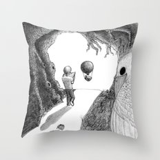 Walking with a Friend Throw Pillow