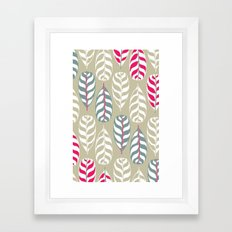 Simple leaf print, experiment Framed Art Print
