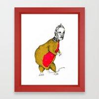 Hood Rat Framed Art Print