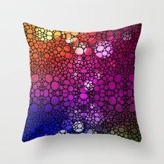 Stone Rock'd Rainbow - Art By Sharon Cummings Throw Pillow