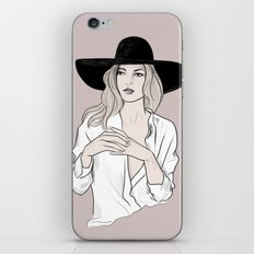 Fashion icon - Kate Moss inspired illustration iPhone & iPod Skin