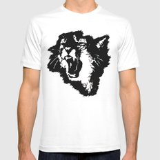 rattatat cat White SMALL Mens Fitted Tee