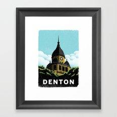 Denton Courthouse  Framed Art Print