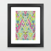 TRIANGLE SUMMER Framed Art Print