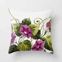 Morning Glory 2 Throw Pillow