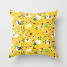 Alpacas & Maracas  Throw Pillow