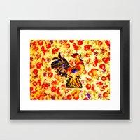 RADIANT ROOSTER - 074 Framed Art Print