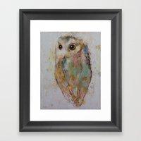 Owl Painting Framed Art Print