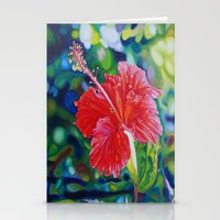 Tropical Hibiscus Stationery Cards