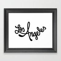 Los Angeles, Hand-Letter… Framed Art Print