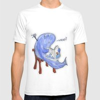 The Whatwhale Mens Fitted Tee White SMALL