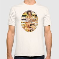 Glitch Pin-Up Redux: Vanessa  Mens Fitted Tee Natural SMALL