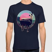 Llama Mens Fitted Tee Navy SMALL