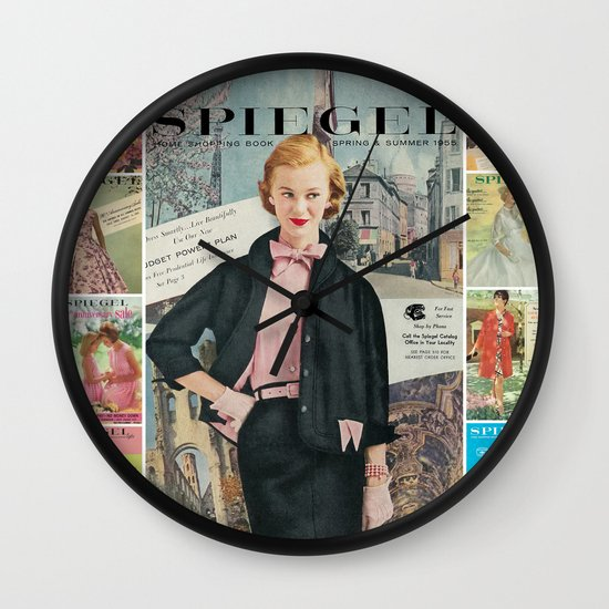 1955 Spring/Summer Catalog Cover Wall Clock