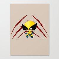Chibi Wolverine Canvas Print