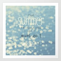 SUMMER IS CALLING Art Print
