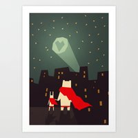 The city needs love Art Print
