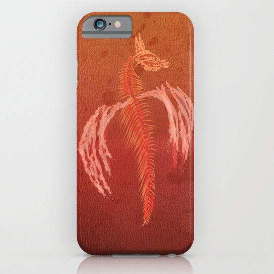 Dragon in red iPhone & iPod Case