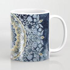 Blue Floral Mandala Mug