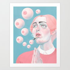 When You Get High Art Print