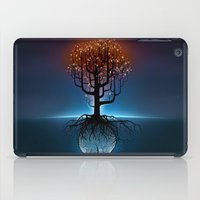 Tree, Candles, and the Moon iPad Case
