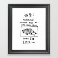 Millenium Falcon 'For Sale' Print Framed Art Print