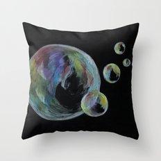 CRAYON LOVE  - Soap Bulbs Throw Pillow