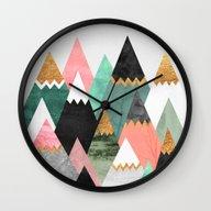 Pretty Mountains Wall Clock