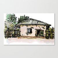 A BAKERY IN THE GAMBIA Canvas Print