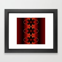 Floral Ribbon Framed Art Print