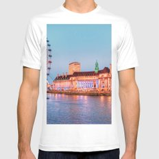 The London Eye Mens Fitted Tee SMALL White