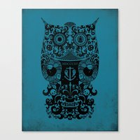 The Old Owl No.2 Canvas Print