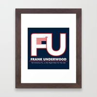 Full FU Logo Framed Art Print