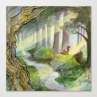 Ithilien, by a quiet stream Canvas Print