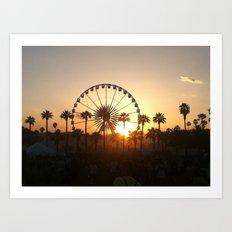 Coachella Sunset Art Print