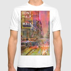 traffic jam pink White Mens Fitted Tee SMALL