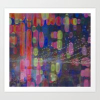 A Party In The Park Art Print