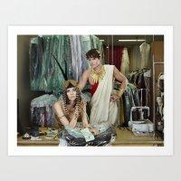 Cleopatra and Caesar Art Print