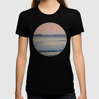 Sea Birds Womens Fitted Tee Black SMALL