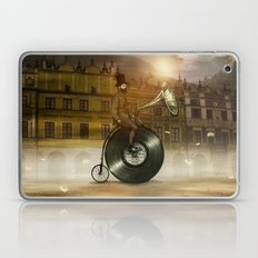Music Man in the City, by Eric Fan and Viviana González Laptop & iPad Skin