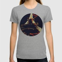 the Eiffel Tower Womens Fitted Tee Athletic Grey SMALL