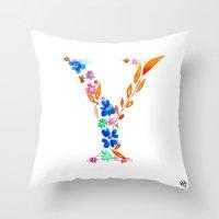 Monograms - Y Throw Pillow