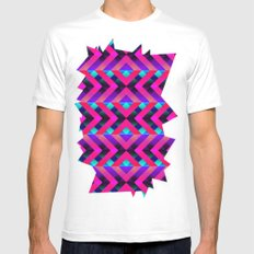 Purple SMALL Mens Fitted Tee White